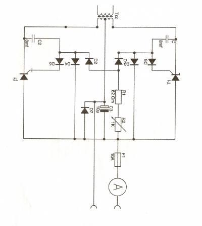схема устройства для автомобильного аккумулятора